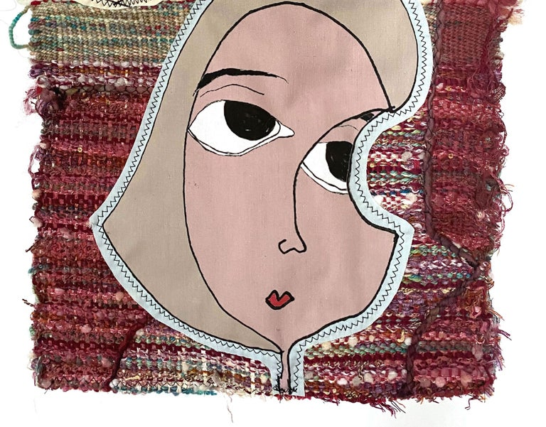 Juliet Martin sculpts fiber memoirs. She combines weaving, writing, and illustration to tell her stories. She uses humor as a sling for heavy subjects. Making a joke to convey a serious message, her process is a delicate balance between satire and