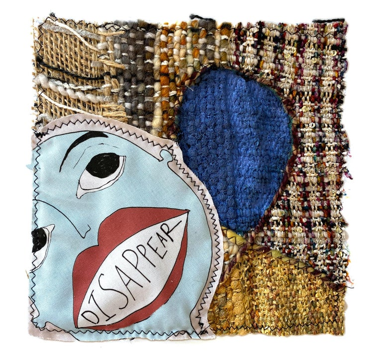 Small textile wall hanging: 'Tarot Card (01)' - Mixed Media Art by Juliet Martin