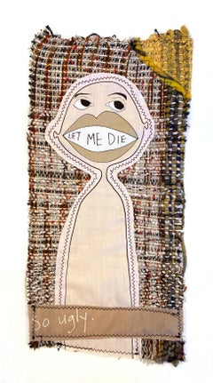 Small textile wall hanging: 'Tarot Card 11'