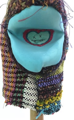 Handwoven Textile Sculpture: 'I am Puppet' (heart)
