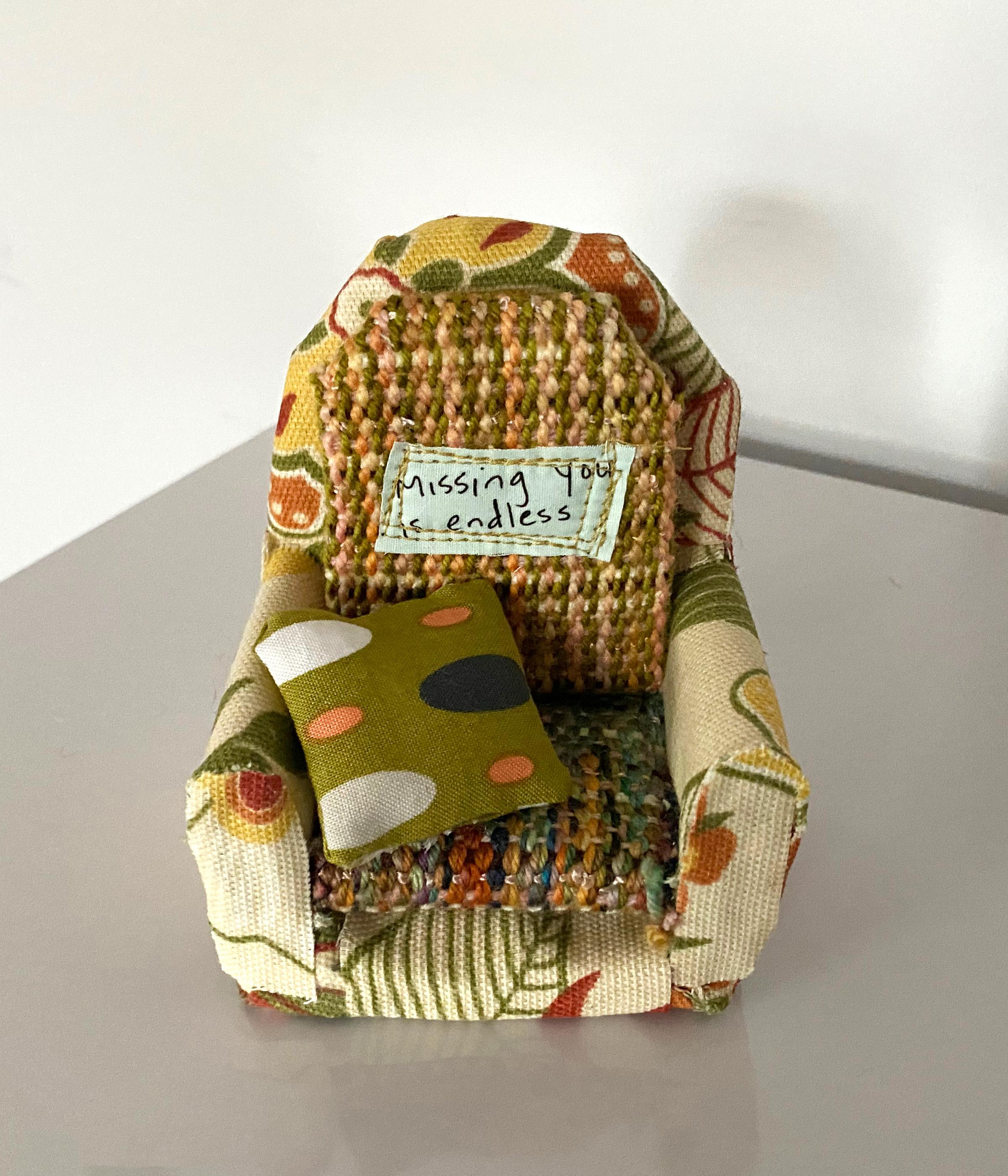 Textile sculpture: 'Lounge Chair on Wednesday'