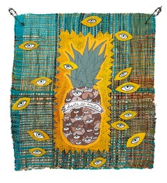Textile wall hanging: 'Desire is Acidic'