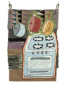 Textile wall hanging: 'Kitchen on Wednesday'