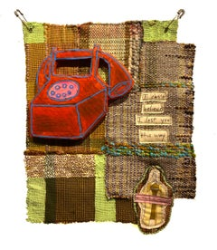 Textile wall hanging: 'Office on Monday'