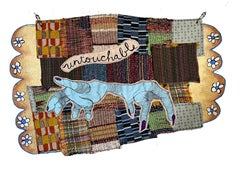 Textile wall hanging: 'Untouchable'