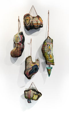 Textile Handwoven Sculpture: 'Hanging'
