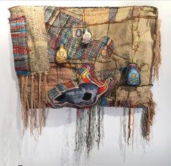"""Textile Handwoven Wall Hanging: """"Overdose'"""