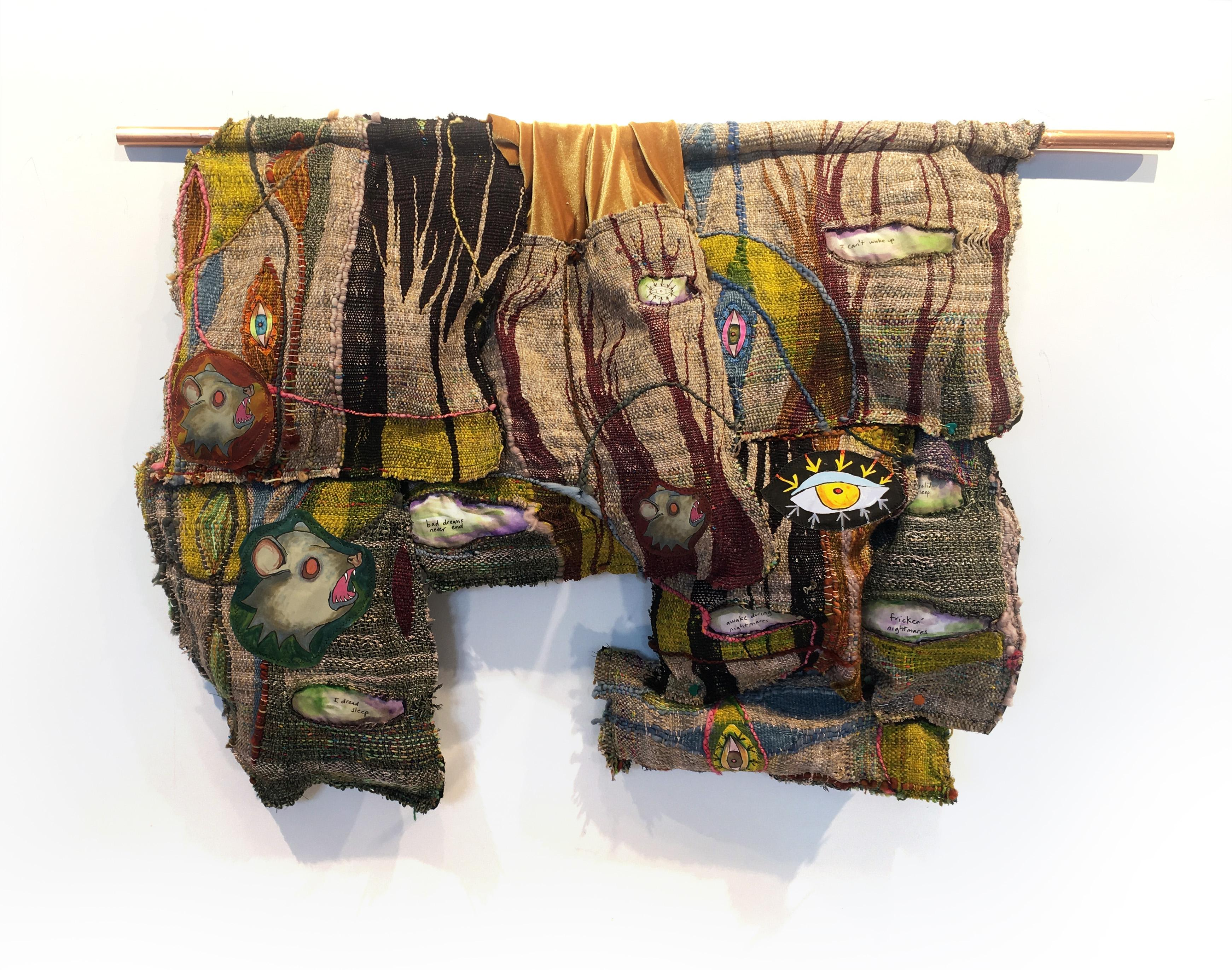 Textile Handwoven Wall Hanging: 'Forest and Trees'