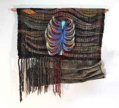 Textile Handwoven Wall Hanging: 'Rib from My Side (Large)'