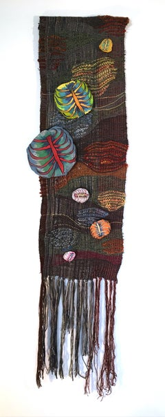 Textile Handwoven Wall Hanging: 'Rib from My Side Small'