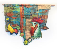 Textile Handwoven Wall Hanging: 'Roost'
