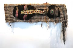 Textile Handwoven Wall Hanging: 'Slumber 2'