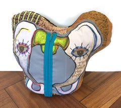 Textile Fabric Sculpture: 'I Feel it in My Pelvis'