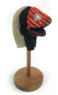 Handwoven Textile Sculpture: 'I am Puppet' (flower)