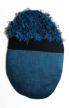 Textile Sculpture: 'Outer Wear: Blue'