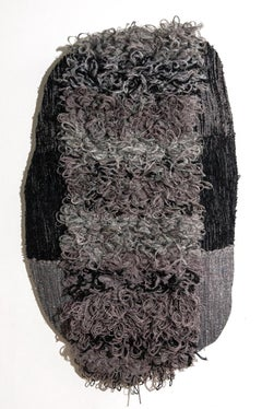 Textile Sculpture: 'Outer Wear: Gray'