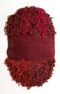 Textile Sculpture Whimsical: 'Outer Wear: Red'
