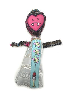 Textile Fabric Sculpture: 'Too Manic to Mary'