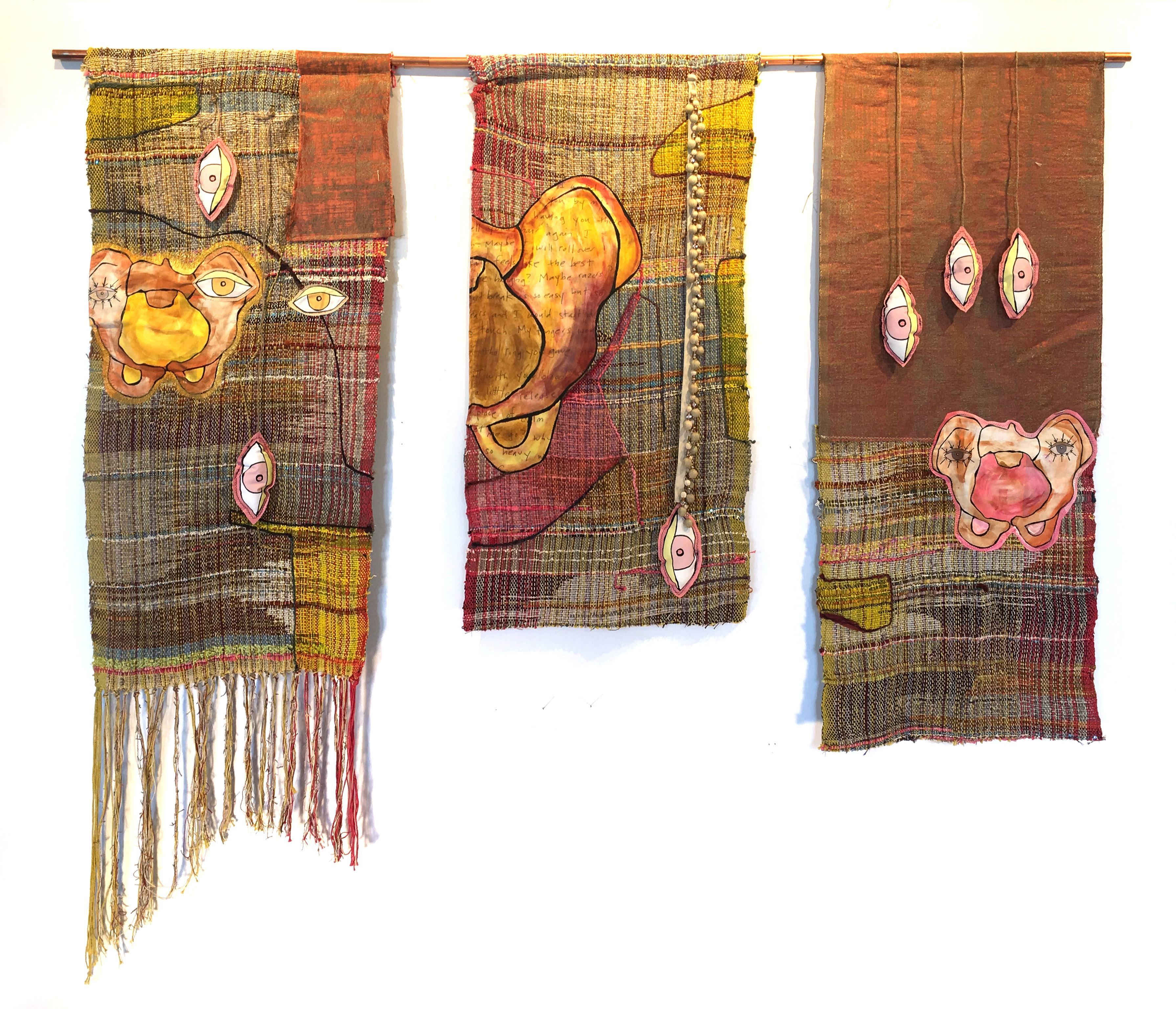 Textile Handwoven Wall Hanging: 'Pelvic Thrust'
