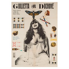 """Juliet of the Spirit"", Czech Film Movie Poster, 1969 Federico Fellini"