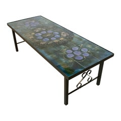 Juliette Belarti 1960s Wrought Iron Ceramic Tile Side Coffee Table