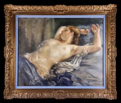Naked woman with red hair between sheets, Barcelona XX Century