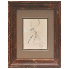Julio González Hand Signed Drawing, 1936