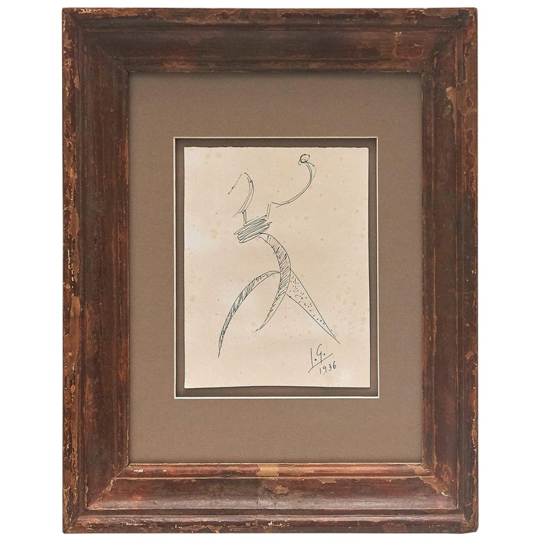 Julio González Hand Signed Drawing, 1936 For Sale