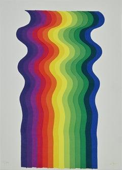 Optical n.2 - Original Screen Print by Julio Le Parc - 1976