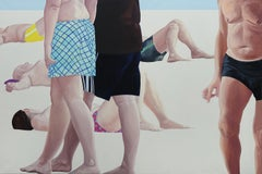 Beach - Contemporary Figurative Oil Painting, Realism, Beach View, People