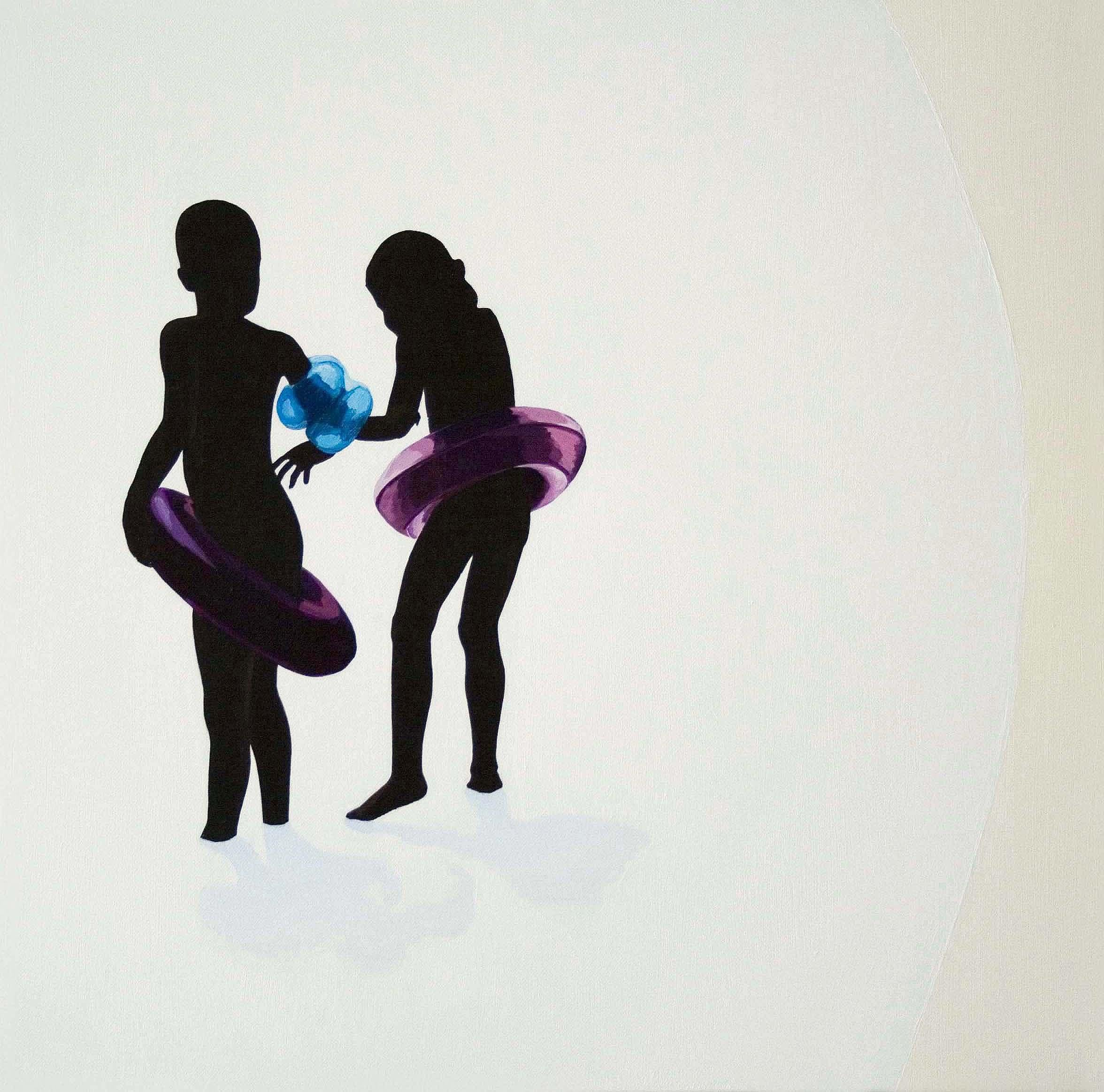 Gestures 20 -Contemporary Minimalistic Figurative Oil Painting, Realism, Beach