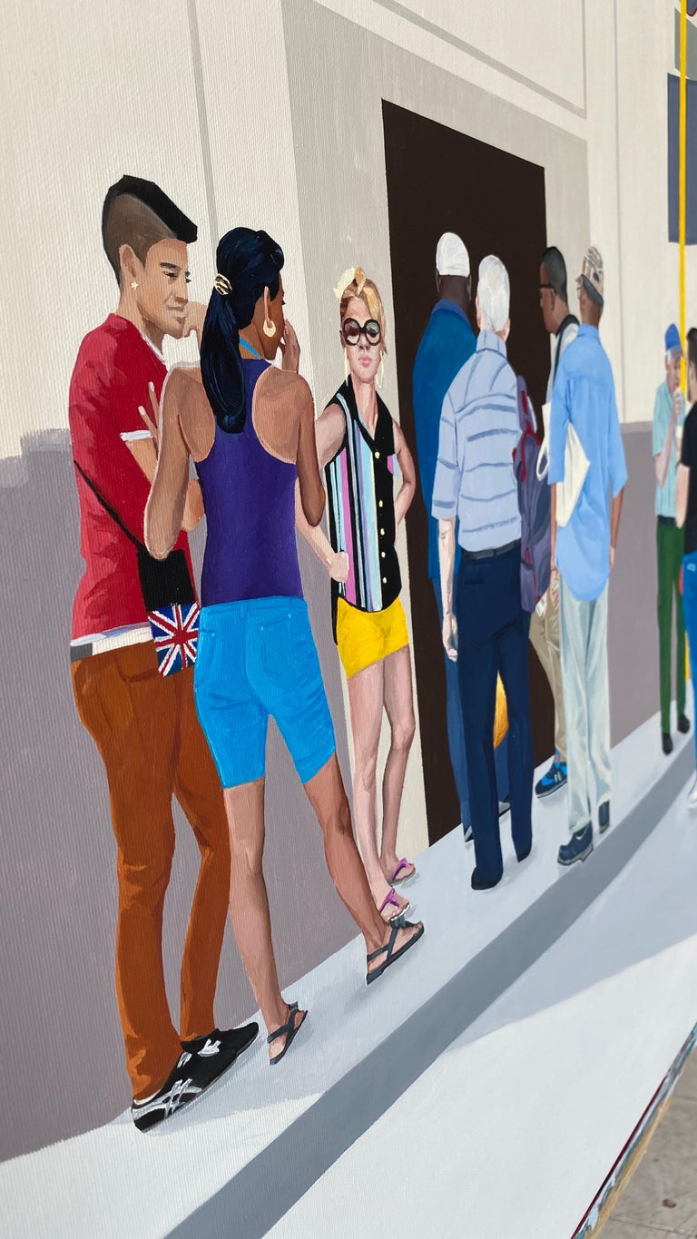 Ice Cream - Contemporary Figurative Oil Painting, Realism, Modernism, People For Sale 1