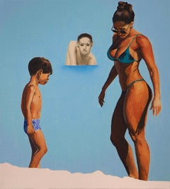 Judgment V - Modern Figurative Oil Painting, Sea View, Beach, Realism