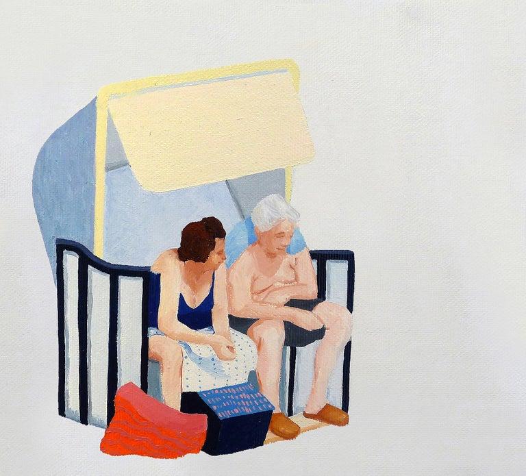 Julita Malinowska Portrait Painting - MARGARET THATCHER AND DENG XIAOPING NEGOTIATE THE RETURN OF HONGKONG - Oil Paint