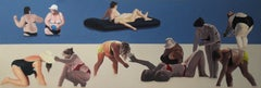 Sweeties I  - Large Format Painting, Figurative Oil Painting,  Beach, Sea View