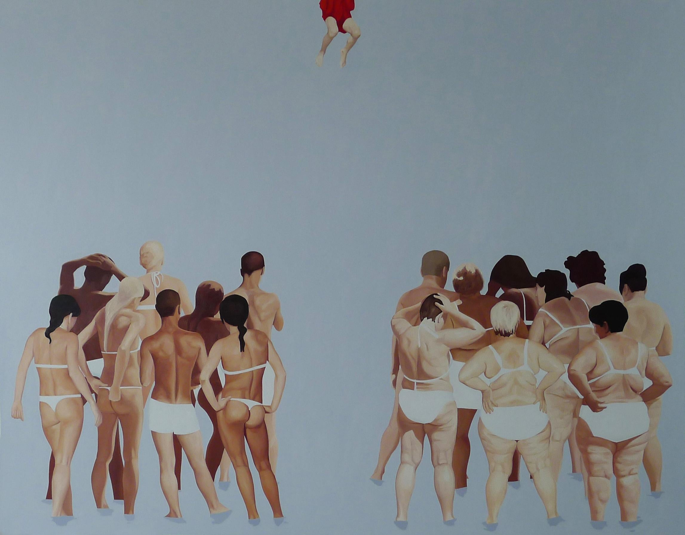 The Last Judgement 2 - Very Large Format,  Contemporary Oil Figurative Painting