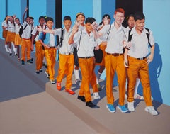 Welcome - Large Format Painting, Photorealistic, Modern Oil Painting, Realism