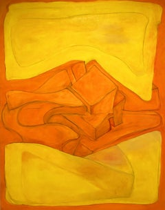 Yellow with Orange, Painting, Oil on Canvas