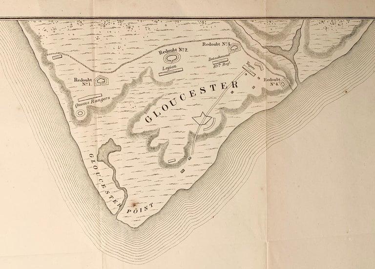 Map of the American Revolution Siege of Yorktown - Realist Print by Julius Bien