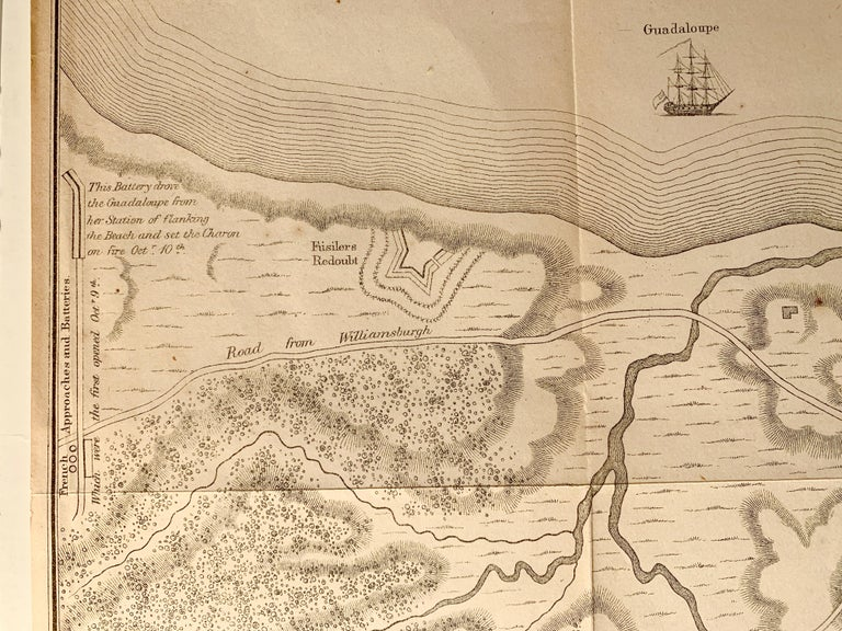 Map of the American Revolution Siege of Yorktown For Sale 2