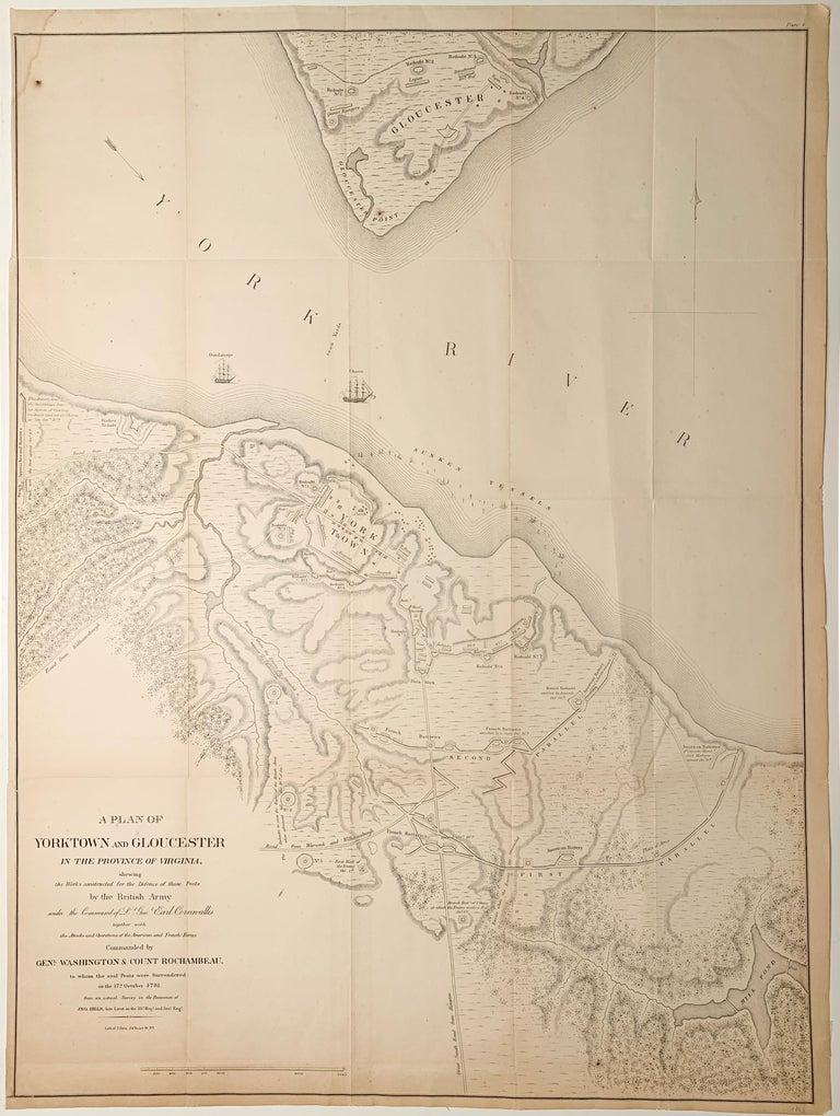 Julius Bien Landscape Print - Map of the American Revolution Siege of Yorktown