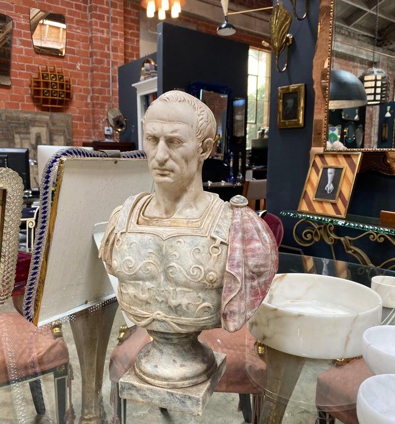 Mid-Century Modern Julius Caesar Bust Sculpture , 20th Century For Sale