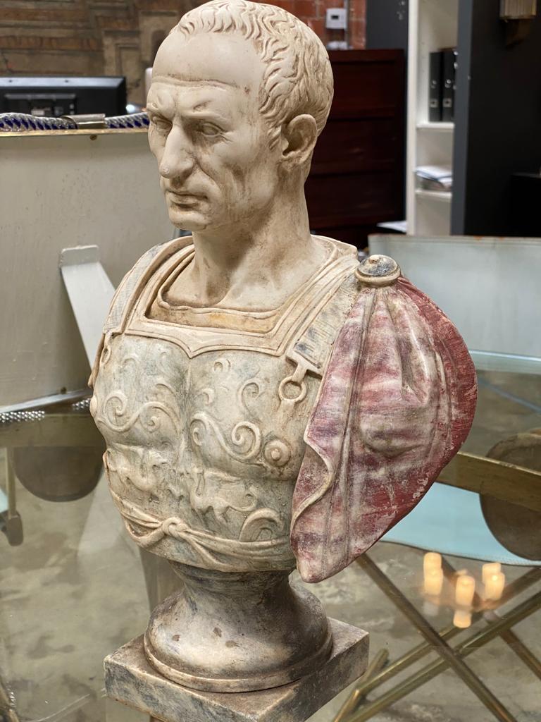 Italian Julius Caesar Bust Sculpture , 20th Century For Sale