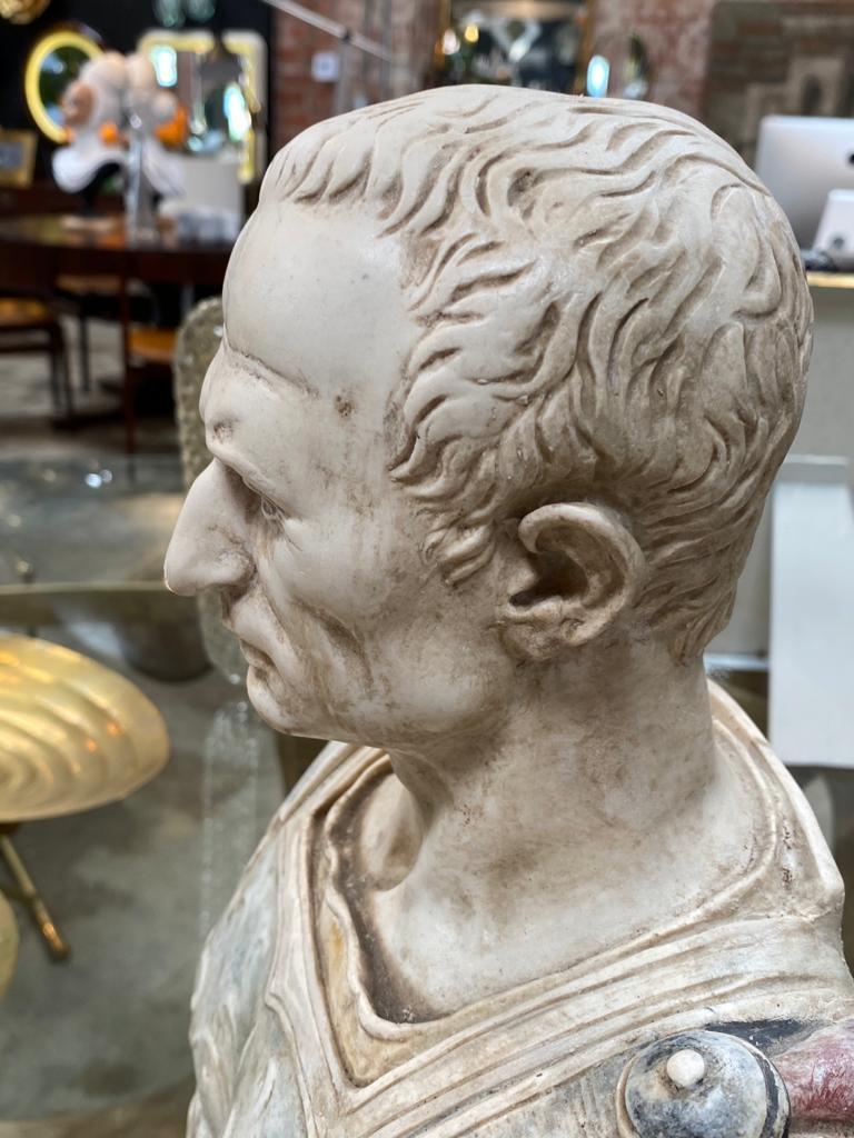 Julius Caesar Bust Sculpture , 20th Century In Good Condition For Sale In Los Angeles, CA