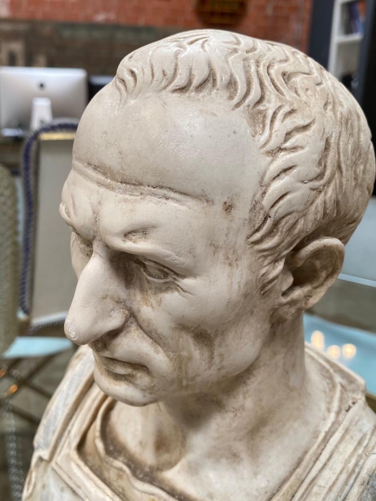 Mid-20th Century Julius Caesar Bust Sculpture , 20th Century For Sale