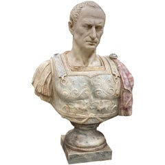 Julius Caesar Bust Sculpture , 20th Century