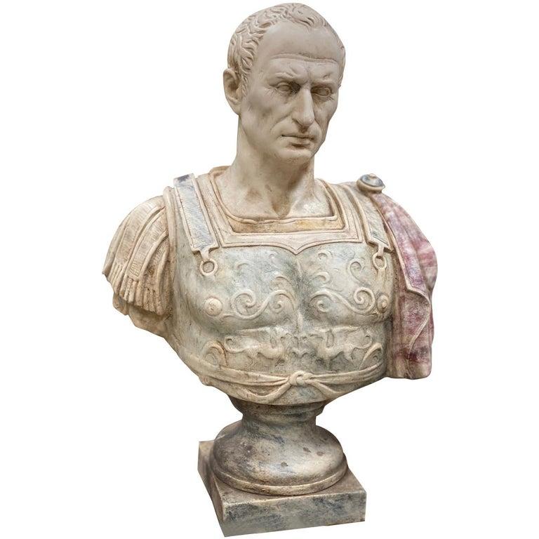 Julius Caesar Bust Sculpture , 20th Century For Sale