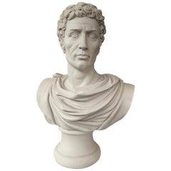 Julius Caesar Bust Sculpture 'in Toga', 20th Century