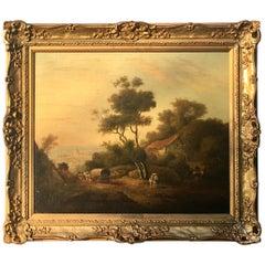 Julius Caesar Ibbetson 1759-1817 Old Master Painting English, 18th Century