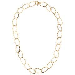 Julius Cohen 22 Karat Yellow Gold Link Necklace